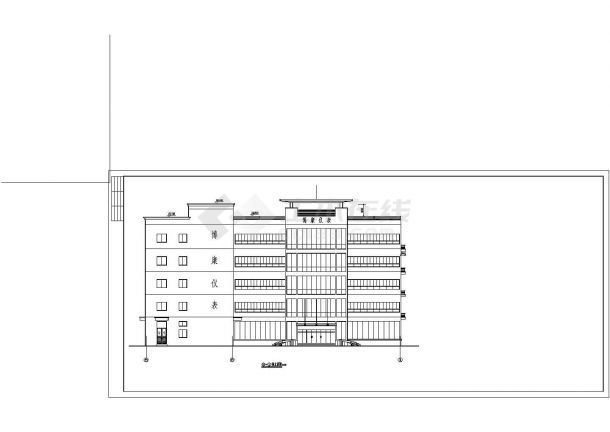 某地厂区房屋建筑设计方案详细施工CAD图纸-图二