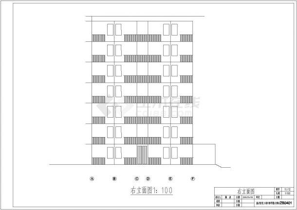 某中学17栋学生公寓建筑设计(含设计说明)-图二