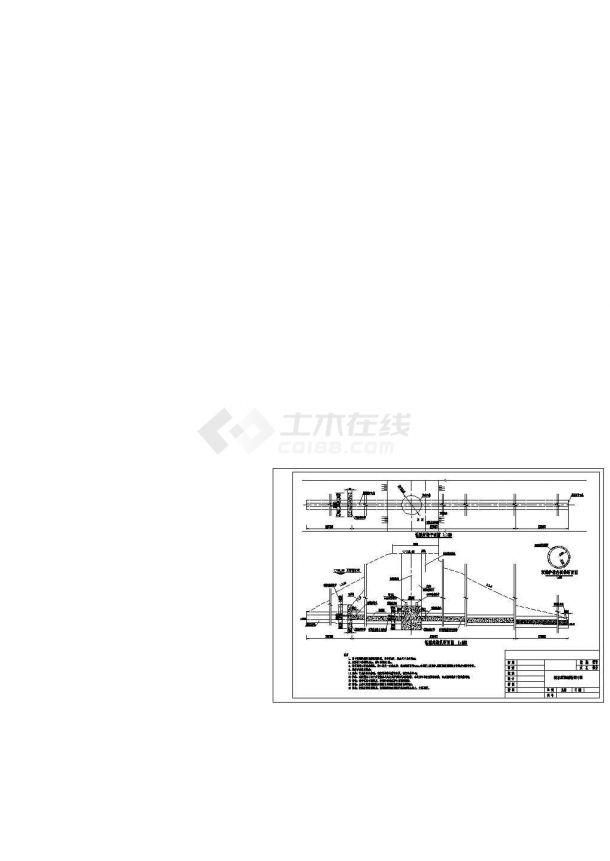 某城市水库除险加固工程设计施工CAD图纸-图一