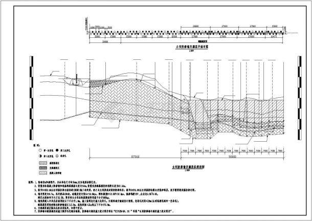 某主坝防渗墙及灌浆层设计施工CAD图纸-图一