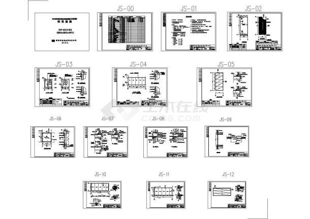 某地工程集装箱房屋建筑设计施工cad图-图一