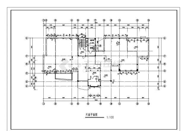 某城市住宅楼结构设计图CAD详图-图一