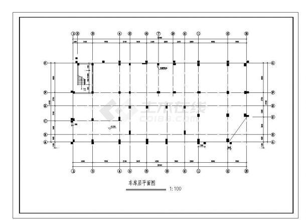 某城市住宅楼结构设计图CAD详图-图二