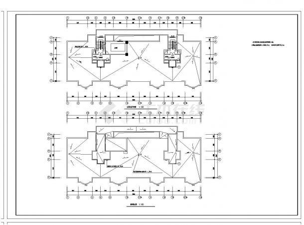 某单元每单元住宅楼建筑结构设计图CAD规划详图-图二