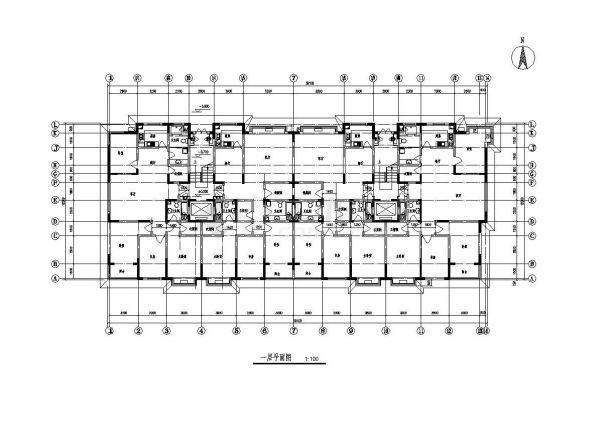 某阁楼住宅楼结构布置设计图CAD规划详图-图一