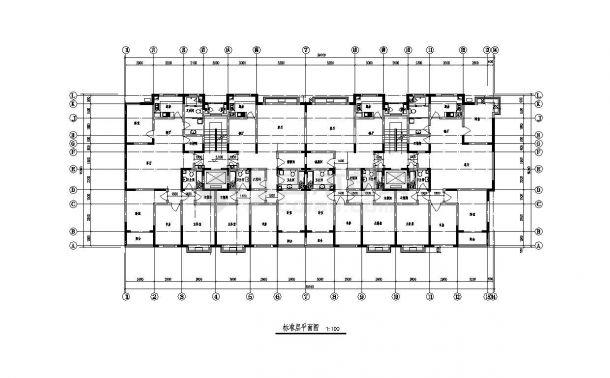 某阁楼住宅楼结构布置设计图CAD规划详图-图二