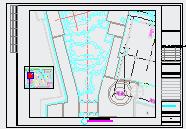某五洲国际购物公园景观设计cad施工图纸-图一