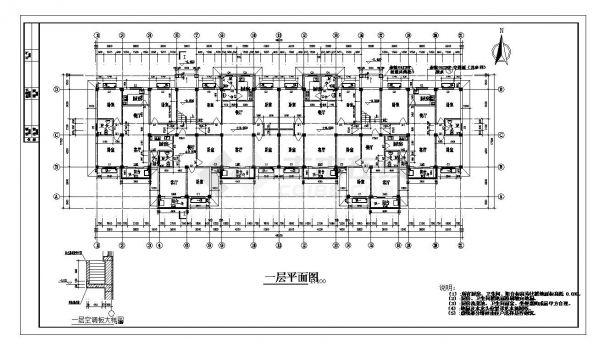 某高层住宅楼每单元结构设计图CAD详图-图一