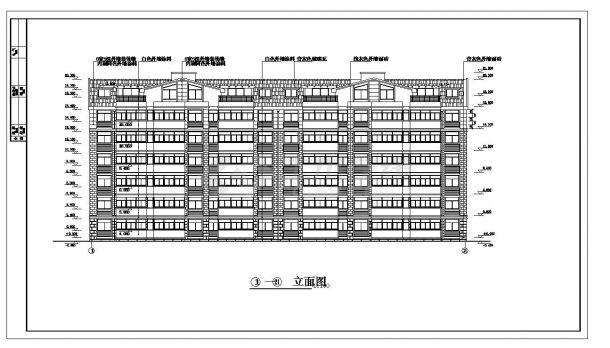 某高层住宅楼每单元结构设计图CAD详图-图二