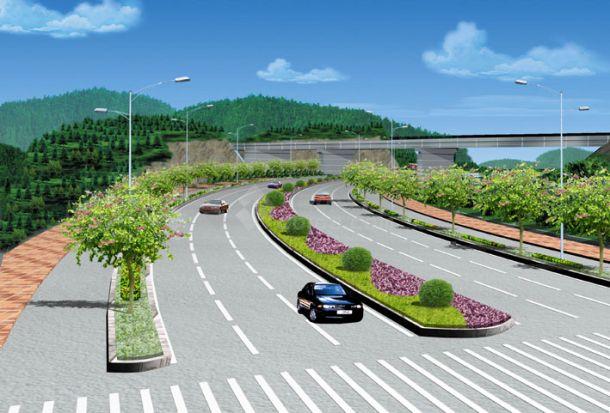 道路绿化效果图-图一