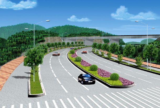 道路绿化效果图-图二