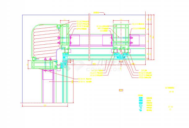 某地小单元幕墙施工节点详图CAD图纸-图二