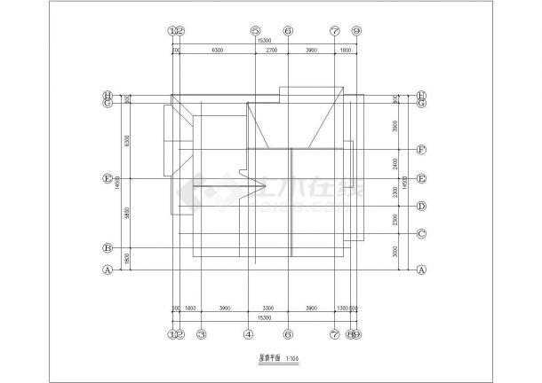 长沙市新和嘉苑小区三层+阁楼高档独栋砖混结构别墅平立面设计CAD图纸-图一