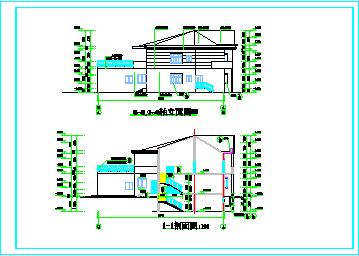 二层别墅楼cadbob电竞app设计图纸-图一