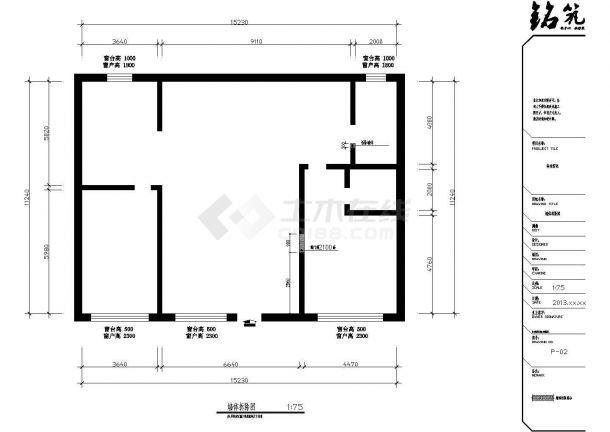 刘颖某多层住宅楼全套建筑施工设计cad图纸(含效果图)-图二