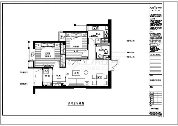 凯隆地产现代风格样板房全套施工设计cad图纸-图二