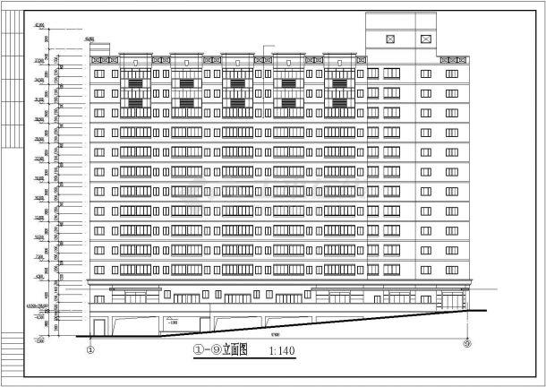 某地大型12层的学生宿舍bob电竞app设计图纸-图一
