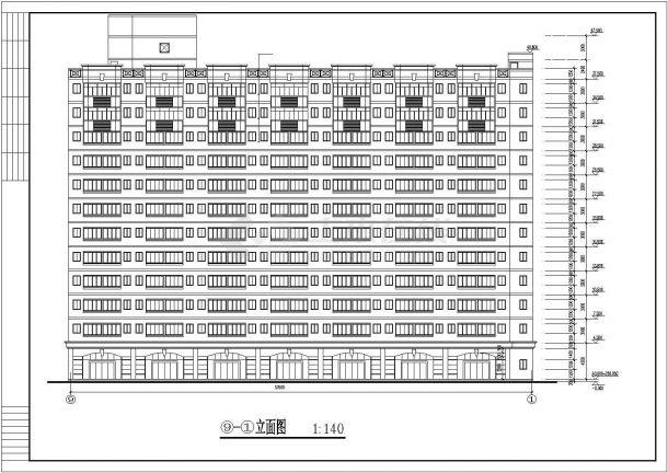 某地大型12层的学生宿舍bob电竞app设计图纸-图二