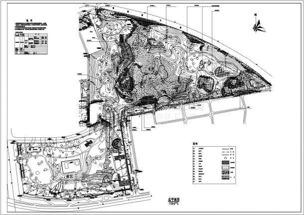 园博园景观绿化规划设计cad总平面施工图(含技术经济指标)-图一