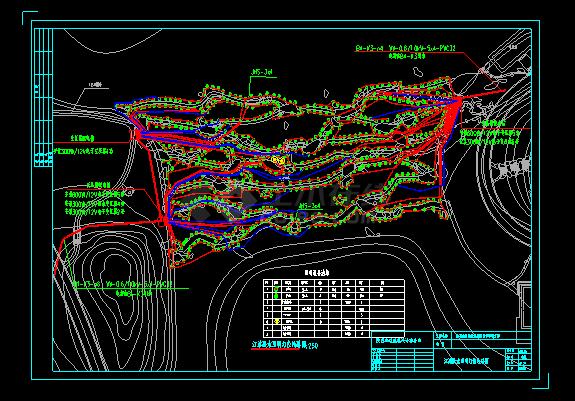 汉武泉桥桥拱景观照明电气设计施工图-图一
