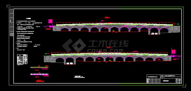 汉武泉桥桥拱景观照明电气设计施工图-图二