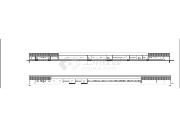 某食品厂房建筑方案设计图_食品厂房设计-图一
