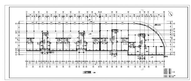 某房屋每单元住宅楼设计图CAD规划详图-图一