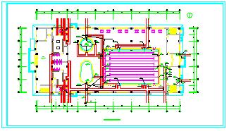 某游泳馆全套cad施工图纸(含建筑、给排水、暖通施工图纸)-图一