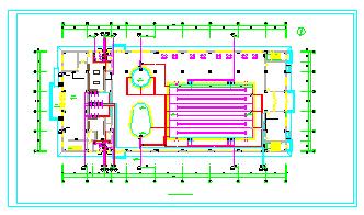 某游泳馆全套cad施工图纸(含建筑、给排水、暖通施工图纸)-图二