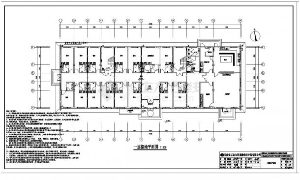 某市干部周转宿舍电气施工图CAD规划详图-图一