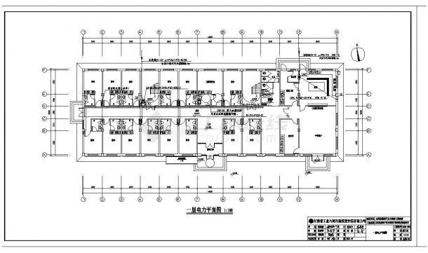 某市干部周转宿舍电气施工图CAD规划详图-图二