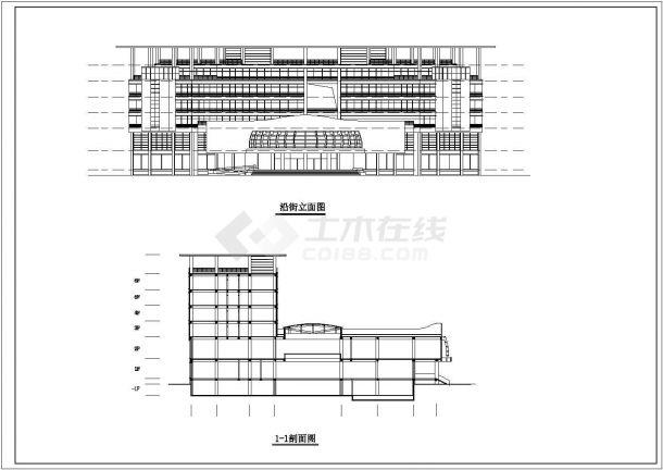 某大学星级会馆建筑方案设计图-图一