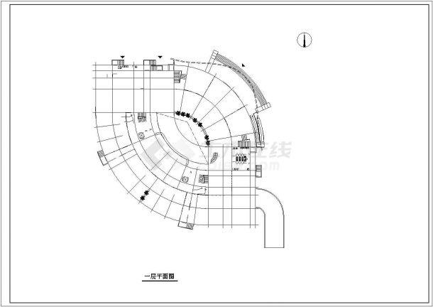 某大学星级会馆建筑方案设计图-图二
