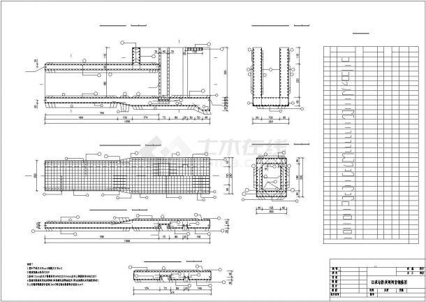 某地区堤防维修加固工程设计CAD图纸-图二