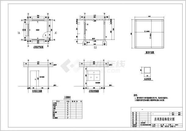 某地区小型水库除险加固全套设计CAD图纸-图二