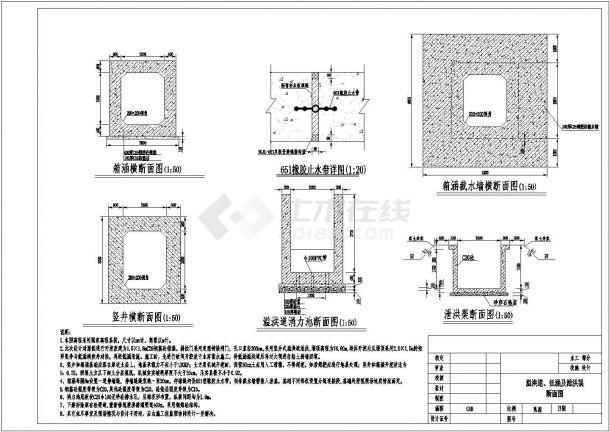 某地区大型水库除险加固全套设计施工CAD图纸-图二
