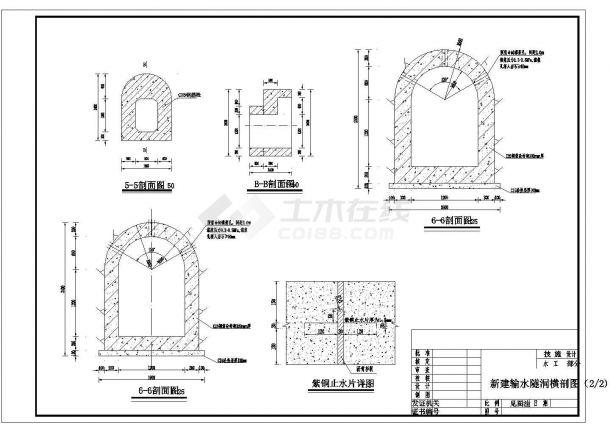 某地区病险水库除险工程设计CAD图纸-图一