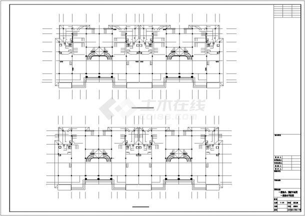 邯郸市昌澜苑小区3层砖混结构别墅给排水设计CAD图纸-图二