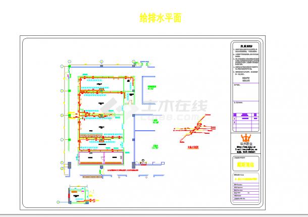 某地某厨房电气动力配电电气设计平面cad图纸-图二