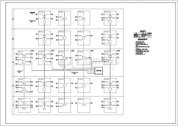 某县一中学教学楼电气CAD设计大样施工图-图一