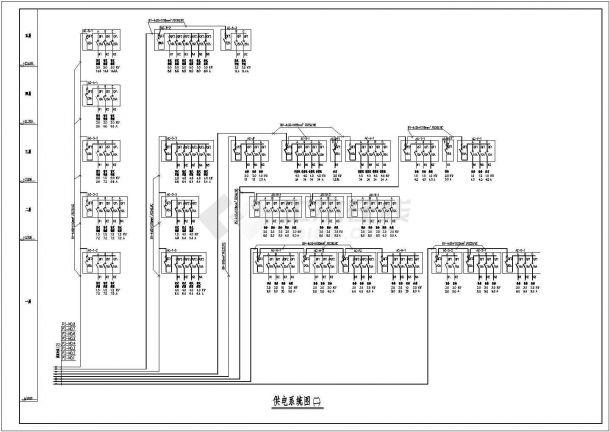 某县一中学教学楼电气CAD设计大样施工图-图二