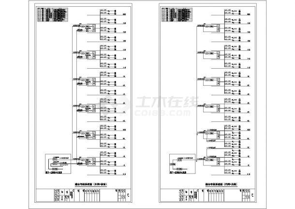 某大型医院病房楼智能化弱电系统工程设计cad全套电气施工图纸110张( 含设计说明)-图一