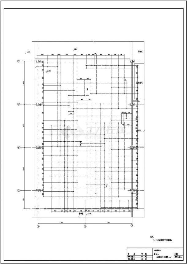 【苏州】某冷库氨压缩机房全套施工设计cad图(含制冷工艺材料设备规格表及总说明)-图一