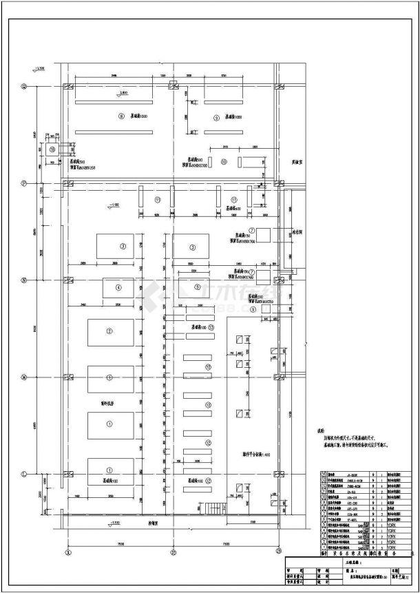 【苏州】某冷库氨压缩机房全套施工设计cad图(含制冷工艺材料设备规格表及总说明)-图二