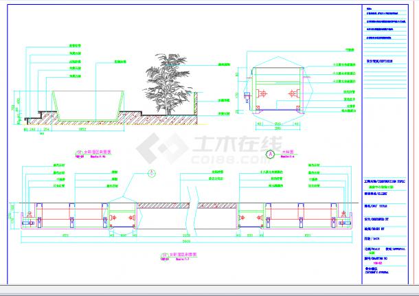 某地某桑拿洗浴中心全套施工CAD图纸-图一