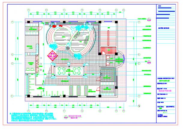 某地某桑拿洗浴中心全套施工CAD图纸-图二