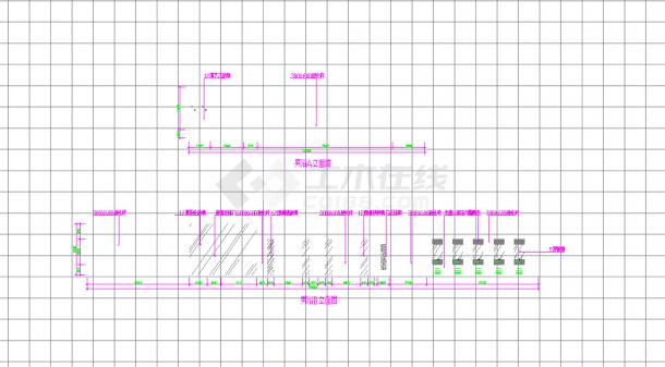 某地某酒店桑拿浴场空间设计施工CAD图纸-图一