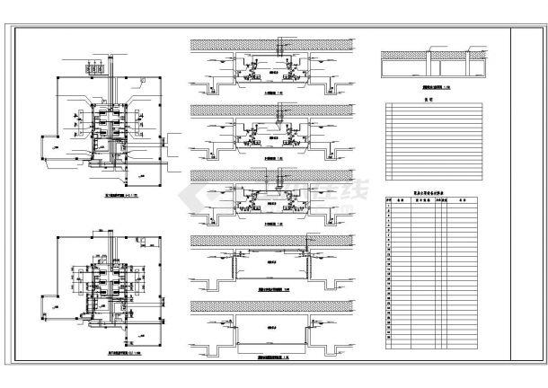 深圳市龙岗北路某小区地下车库全套给排水+喷淋设计CAD图纸-图一