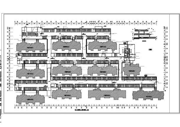 深圳市龙岗北路某小区地下车库全套给排水+喷淋设计CAD图纸-图二
