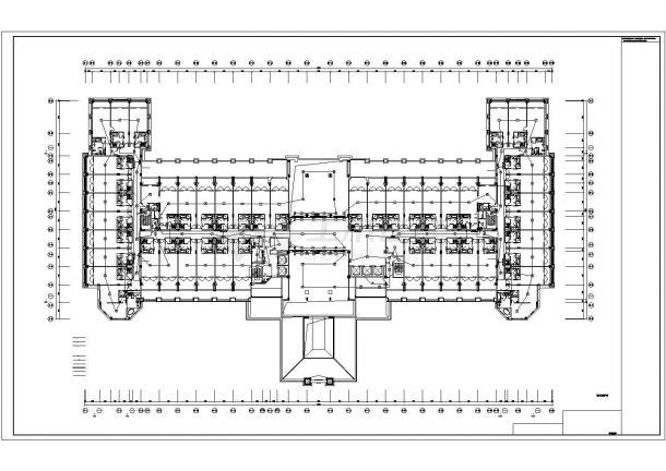 苏州市工业园区某五层商务大酒店全套火灾报警系统设计CAD图纸-图二